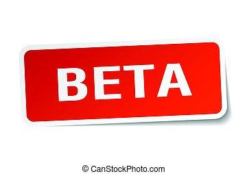 beta square sticker on white