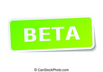 beta square sticker on white