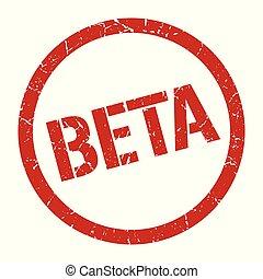 beta stamp - beta red round stamp