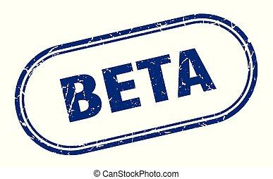 beta stamp. beta square grunge sign. beta