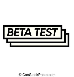 Beta test stamp on white