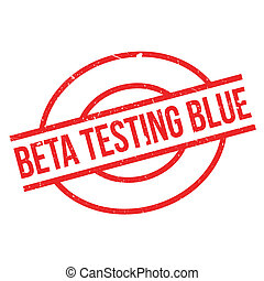 Beta Testing Blue rubber stamp