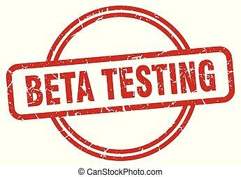 beta testing grunge stamp - beta testing round vintage...