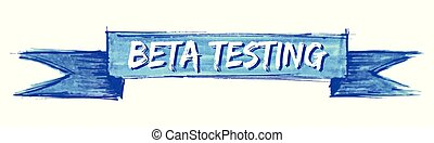 beta testing ribbon - beta testing hand painted ribbon sign