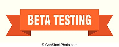 beta testing ribbon. beta testing isolated sign. beta...