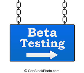 Beta Testing Signboard