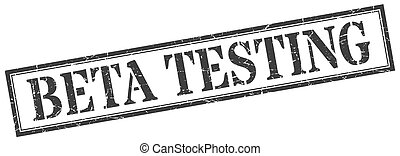 beta testing stamp. beta testing square grunge sign. beta...