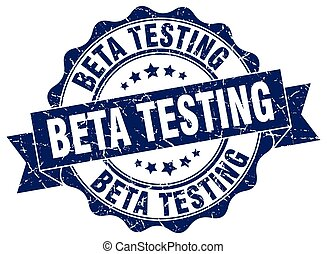 beta testing stamp. sign. seal