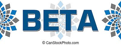 Beta Text Over White Background