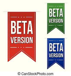 Beta version banner design set