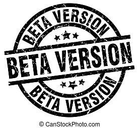 beta version round grunge black stamp