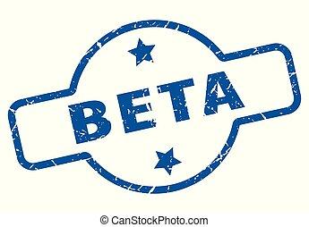 beta vintage stamp. beta sign