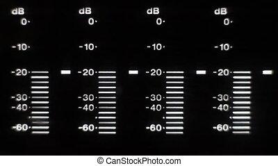Betacam meter level - Betacam four channels digital meter...