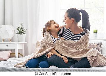betakar, játék, család, alatt