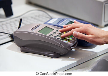 betalare, kreditkort, genom