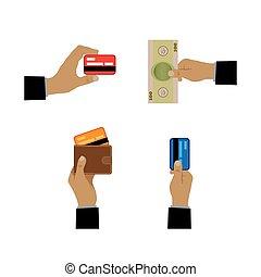 betaling, icons., methodes