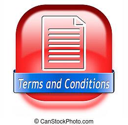 betalingsvilkår, og, betingelserne