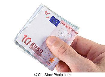 betalning, euro