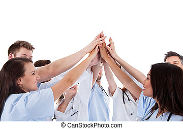betegápolók, nagy csoport, indokolt, orvosok