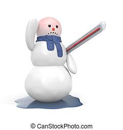 beteg, hóember