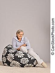 beteg, nő, öregedő