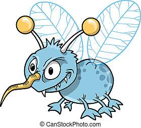 betekenen, gemeen, vector, insect, insect