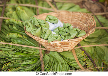 Betel - Bundle of betel leaves - traditional Indian and Sri ...