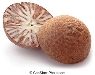 Betel nut over white background