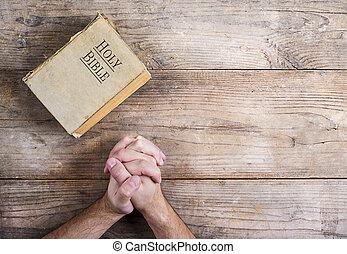 beten, bibel, hände