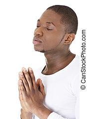 beten, mann