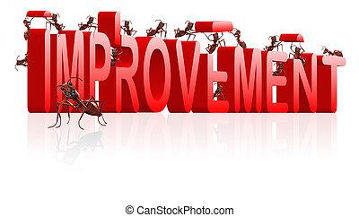 beter, spullen, maken, verbetering
