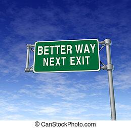 beter, straat, weg, wegteken