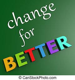 beter, veranderen