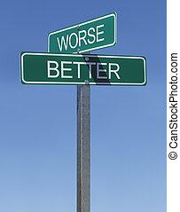 beter, worse, meldingsbord