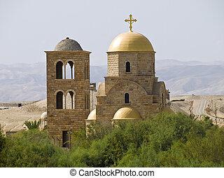 bethany, où, jésus, baptisé, jordanie, endroit, était