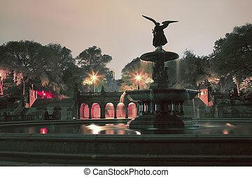 bethesda, 中央である, 台地, 公園, ny