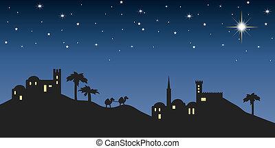 bethlehem, 背景, 夜