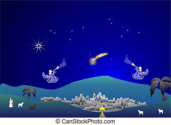 christmas composition of Bethlehem