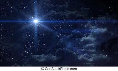 betlejem, gwiazda, krzyż, błękitna planeta
