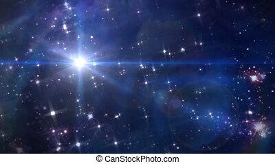 betlejem, przestrzeń, gwiazda, krzyż, obracać