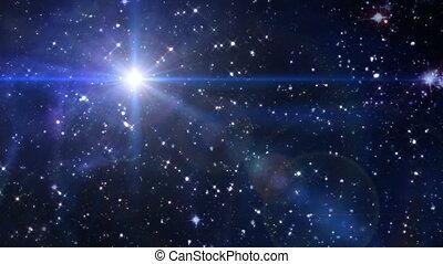 betlejem, sztag, przestrzeń, gwiazda, krzyż