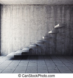 beton, abstract, trap