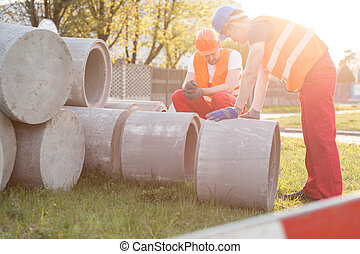 beton, baugewerbe, ringe, standort