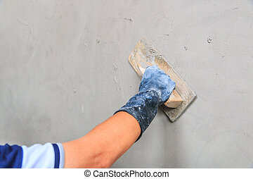 beton, baugewerbe, -, verputzer