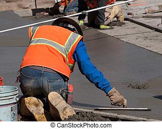 beton, bouwsector, straat