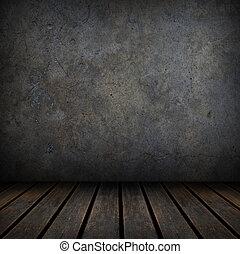 beton, fekete, erdő, öreg, emelet