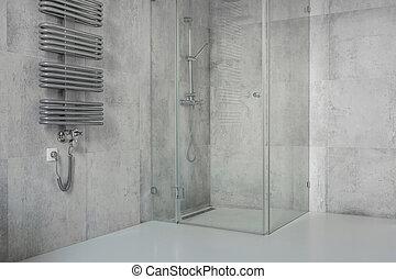 Brauner fliesenmuster modern badezimmer brauner - Fliesenmuster dusche ...
