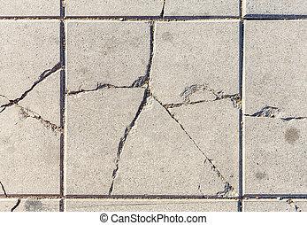 beton, gebarsten