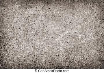 beton, grunge, háttér