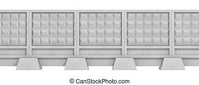 beton, kerítés